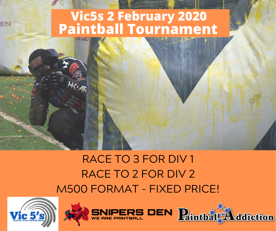 Vic5s Registration – 2 Feb 2020