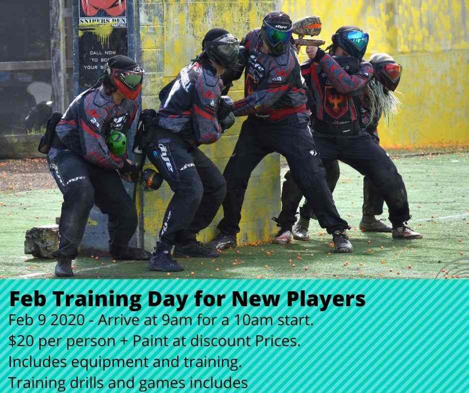 Paintball Training Day – Feb 2020